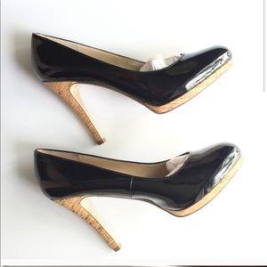 Nine West the Sohigho black heels shoes size 8M